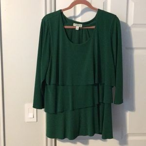 Susan Graver Olive Green tunic blouse